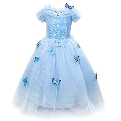 Tussclevogue Girls Cinderella Dress Princess Costume Butterfly Fairy Dresses Up