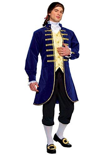 OvedcRay Adult Blue Aristocrat George Washington Colonial Men Costume Jacket (Mens Colonial Aristocrat Costume)