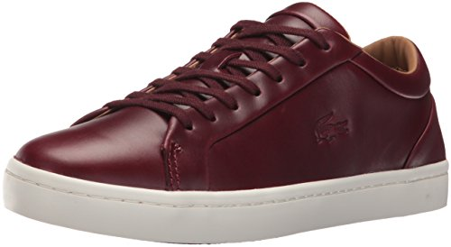 Lacoste Mens Straightset 416 1 Cam Fashion Sneaker Dark Red