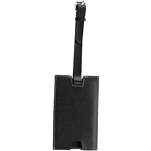 lewis-n-clark-id80blkht-slim-leather-business-card-luggage-tag-with-closed-security-window-black