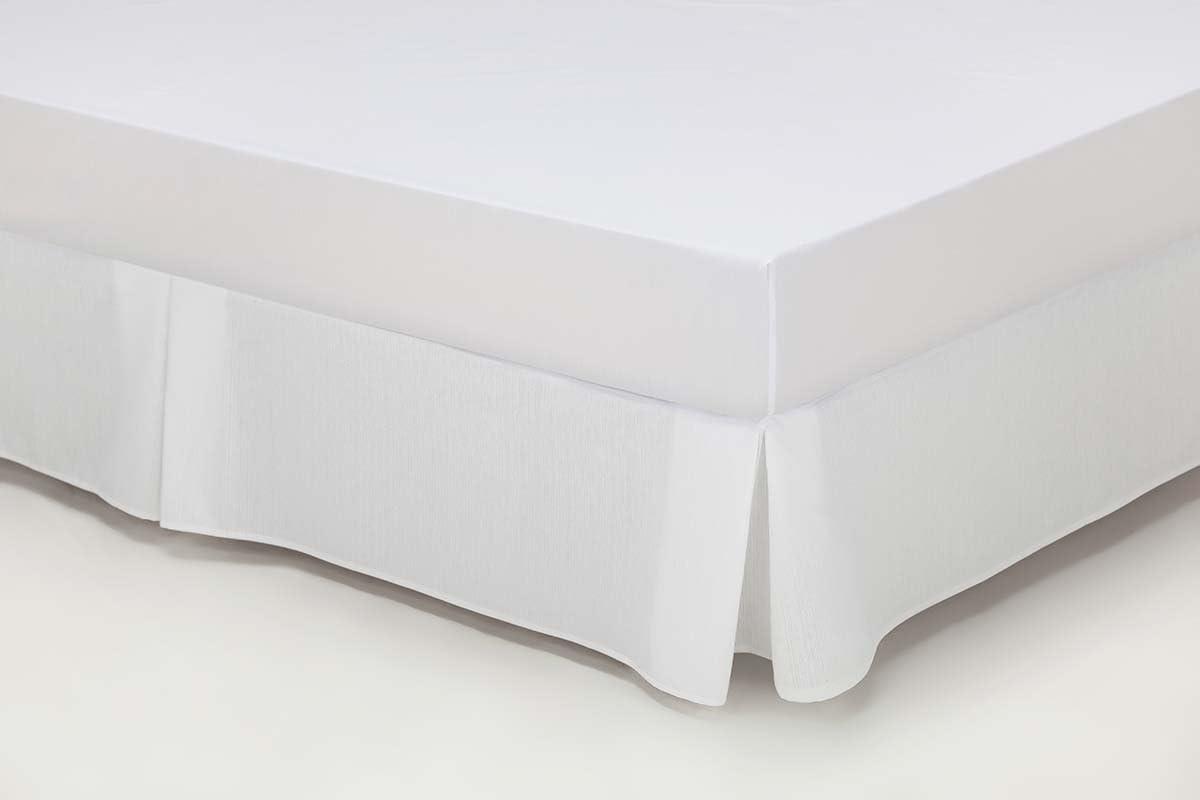 ESTELA - Cubrecanapé Hilo Tintado RÚSTICO Color Blanco óptico - Cama de 90 - Alto 35 cm - Tipo Colcha - 50% algodón / 50% poliéster - Medidas: 90 x ...
