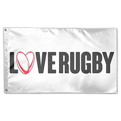 Garden Flag LOVE RUGBY 3x5ft Home Yard Flag Wall Banners Decoration