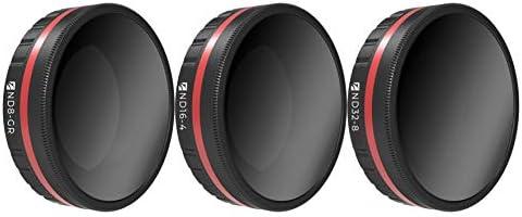 Freewell ランドスケープ グラデーション ND カメラレンズフィルター - 4K シリーズ - 3パック ND8-GR、ND16-4、ND32-8 DJI Osmo アクションカメラに対応