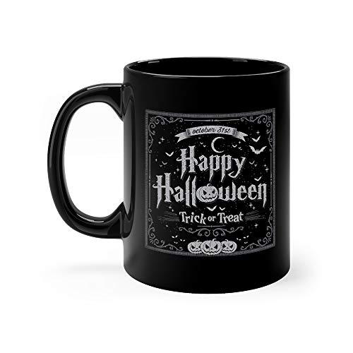 Happy Halloween On Vintage Blackboard Writing Tea Fun Mug Ceramic Cup 11 Oz