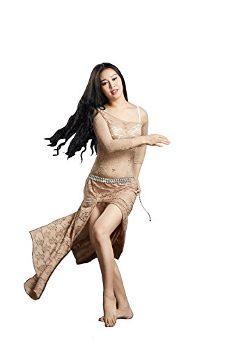 Lace Belly 6 Color Dance Belly Dancing Costumes Oriental Belly Dance Costumes Dress -