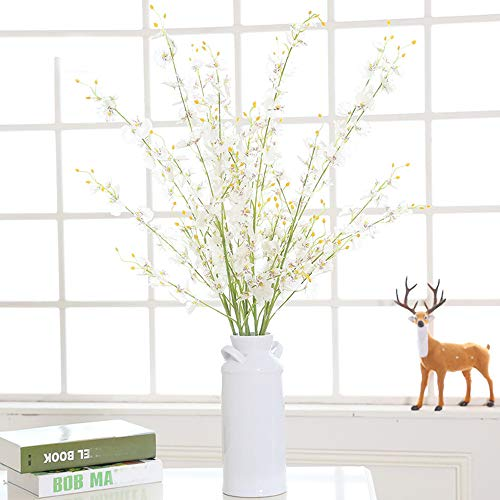 MaxFox-Artificial-Flowers-Long-Stem-Oncidium-Orchid-Phalaenopsis-Simulation-Flowers-For-Wedding-Dinning-Decor-In-Vase-white