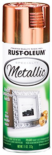 Rust-Oleum 1937830-6 PK Specialty Metallic 1937830 Spray Paint 11 oz, Copper, 6-Pack,