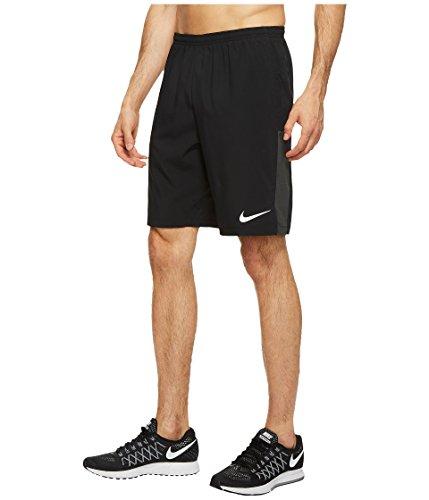 NIKE Flex 9 Printed Running Short Mens (Small, Black)