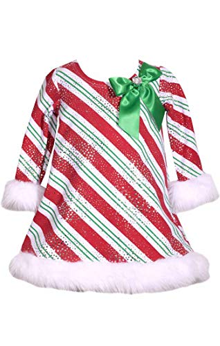 (Bonnie Jean Girls Stunning Red Christmas Stripe Shift Dress -Christmas Dress 12m-24m (24 Months) )