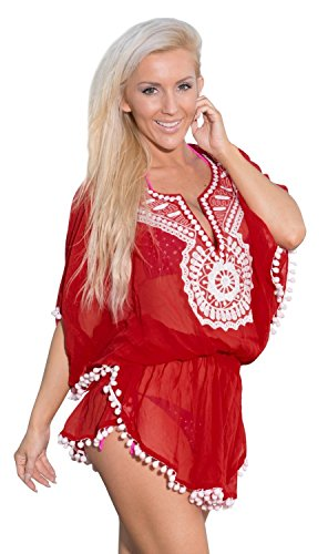Beach Lightweight Chiffon Embroidered Bikini Cover Up Dress Plus Miami Style Valentines Day Gifts 2017