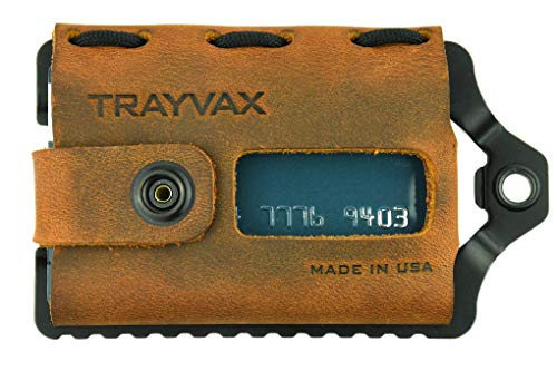 Trayvax Element Wallet (Black | Tobacco Brown Leather)