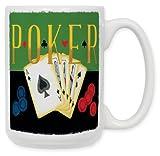 Art Plates ''Poker'' Ceramic Coffee Mug, 15 oz