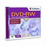 Verbatim® DVD-RW Rewritable Disc DISC,DVD-RW,4.7GB,SR BQ10-341330-09 (Pack of50)