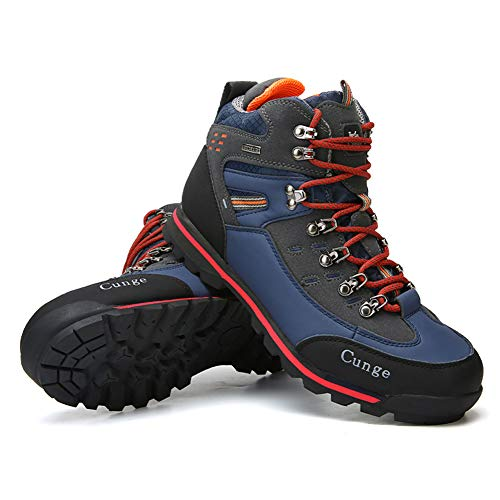 Pictures of CUNGE Hiking Boots Mens Waterproof Leather Trekking 1