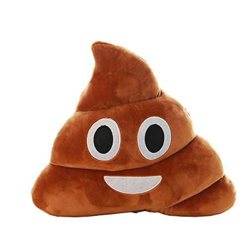 SAQIMA Amusing Poo Shape Cushion, Browm Emoji Smiely Poop Pillow Plush Cushions Home Decor Kids Gift Stuffed Poop Doll Keychain