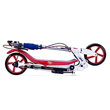 SpaceScooter Junior Ride On Blue X360 Blue Push Board Pump Action Kids Scooter with Handbrake /& Compact Fold SpaceScooter Inc