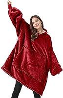 Lushforest Hoodie Sweatshirt Blanket,Oversized Super Soft Warm Comfortable Giant Hoody,Fit for Men Women Teens (Pure pink)