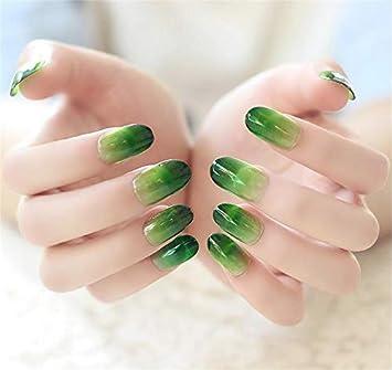 Amazon com : JINDIN 24 Sheet Fake Nails Gradient Color Short