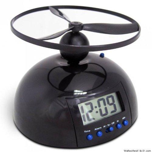 デスクトップ目覚まし時計、怠惰な目覚まし時計を飛ぶクリエイティブかわいいスヌーズ電子時計機械的な怠惰な飛行時計の変態, fly alarm clock ハイクオリティ  fly alarm clock B07DDKSWN6