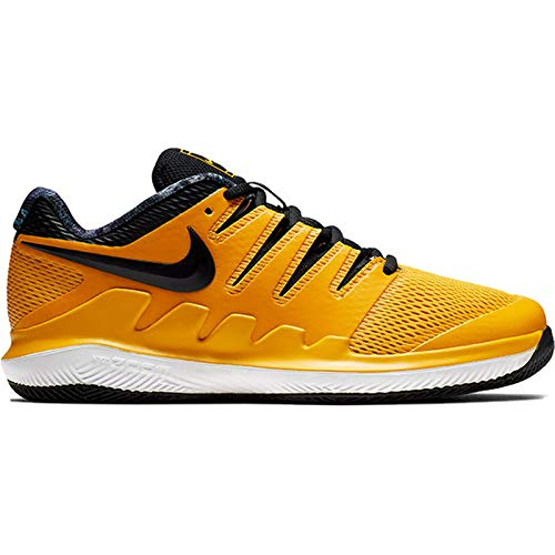 Nike Junior's Vapor X (3.5 US, University Gold/Black/White/Volt Glow) (Nike Little Girls Tennis Shoes)
