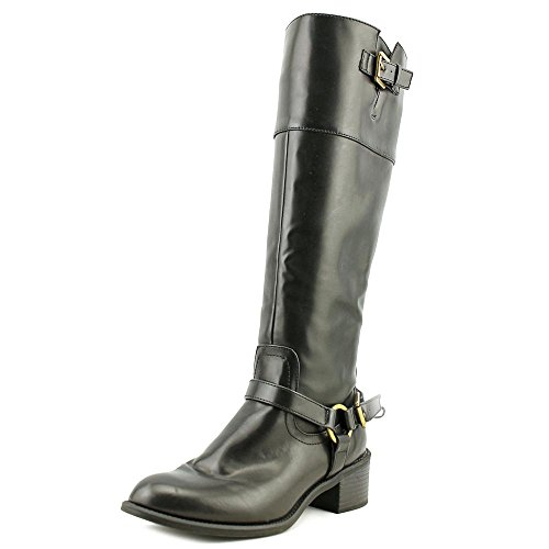 Chaps Rubi Womens Size 8 Black Faux Leather Fashion Knee-High Boots