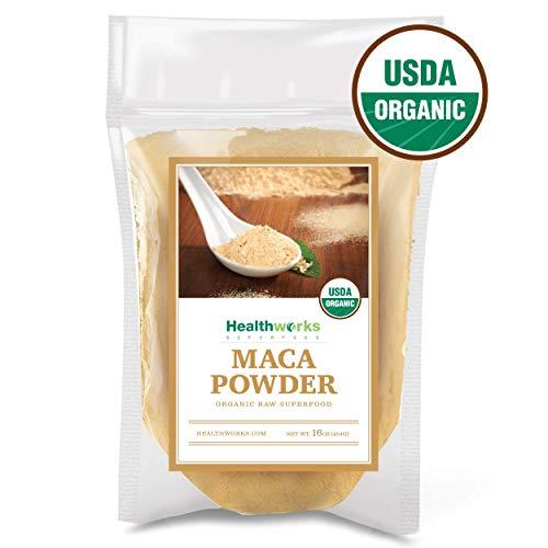 Healthworks Maca Powder Raw Organic 1 Pound