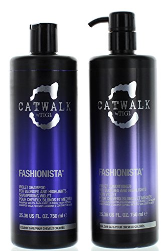 Catwalk Tigi Fashionista Blonds and Highlights Shampoo & Conditioner Set, 25.36 Fluid Ounce