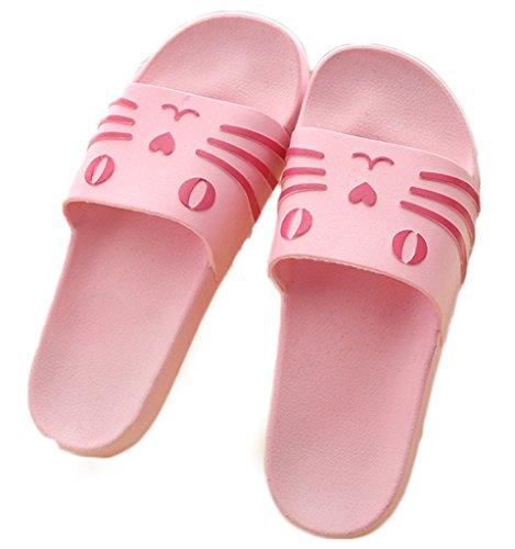 NEWZCERS - Sandalias de vestir de Caucho para mujer Rosa
