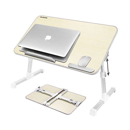 Laptop Bed Table ( Large Size) , Nearpow Adjustable Laptop Bed Tray, Portable Standing Table, With Foldable Legs, Foldable Sofa Couch Notebook Table, Tablet Holder Floor Table