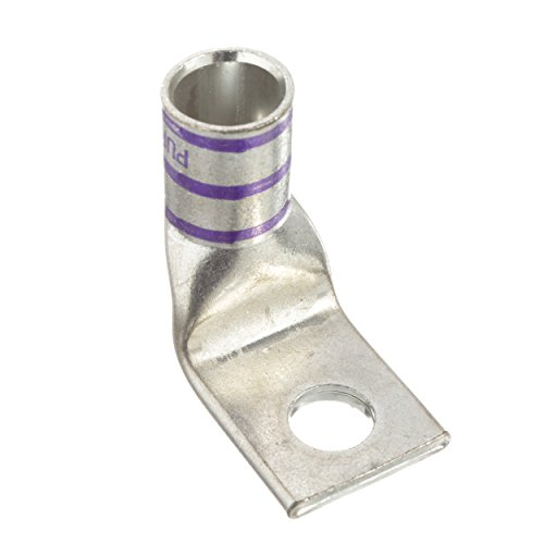 Panduit LCAX4/0-58F-X Flex Conductor Lug, One Hole, Standard Barrel With Window, 90 Degree Angle, 4/0 AWG Code Conductor Size, 4/0 AWG Diesel Locomotive Size, 4/0 AWG Class G/H/I/K/M Conductor Size, - Diesel Hydraulic Locomotive