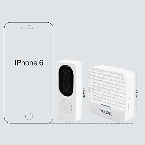 Wireless-Doorbell-Kit-Rechargeable-IP65-Waterproof-doorbell-with-2-LEDs-Indicator-1000ft-Long-Range-and-52-Bells-for-Choosing