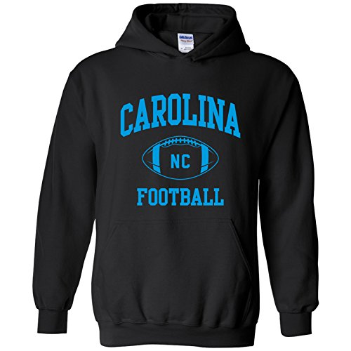 Carolina Classic Football Arch American Football Team Sports Hoodie - 2X-Large - - Panthers Carolina Sweatshirt