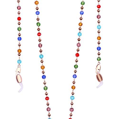 Eyeglasses Chain Holder Strap for Reading glasses & Sunglasses with Swarovski Crystal