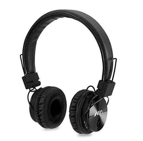 X3 Wireless Stereo Powerful Bass Bluetooth Headphone Headset Fm Radio,Micro SD,Hands Free Call Receiving, Fold Able Sport Game Headphone (Black)