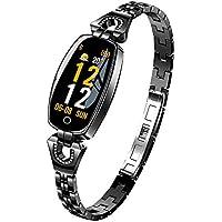 Easytoy Smartwatches, Womens HD Screen Blood Pressure/Heart Rate Monitor Smart Bracelet Watch Pedometer Sport Fitness Tracker (Black)