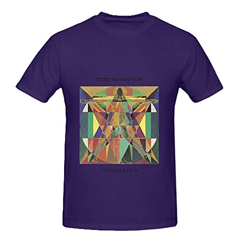 Todd Rundgren Initiation Tour Greatest Hits Mens Crew Neck Design Tee Shirts Purple (Hipster-mode-shop)