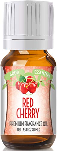 Red Cherry Scented Oil by Good Essential (Premium Grade Fragrance Oil) - Perfect for Aromatherapy, Soaps, Candles, Slime, Lotions, and ()