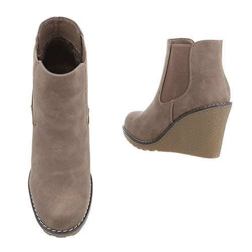 Ital-Design Women's Plateau Light Brown 1fDaBC