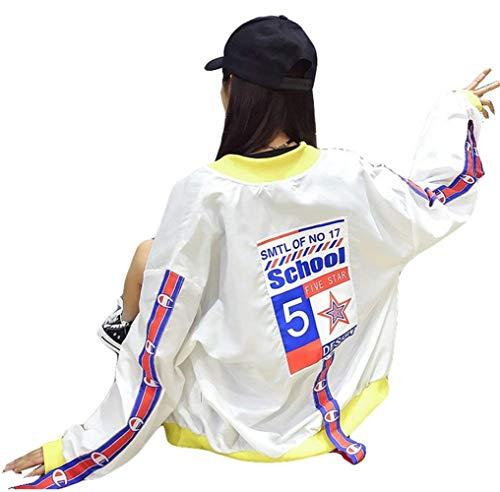 Maniche Tempo Donna Cucitura Autunno Fashion Relaxed Leggero Haidean Giacche Outerwear Streetwear Lunghe Tendenza Libero Giubbino Gelb Ragazze Giubbotto Giubotto Glamorous Semplice qfzwAIX