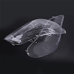 Headlight Headlamp Clear Lens Plastic Shell Cover Replacement for BMW X5 E70 2008 2009 2010 2012 2013