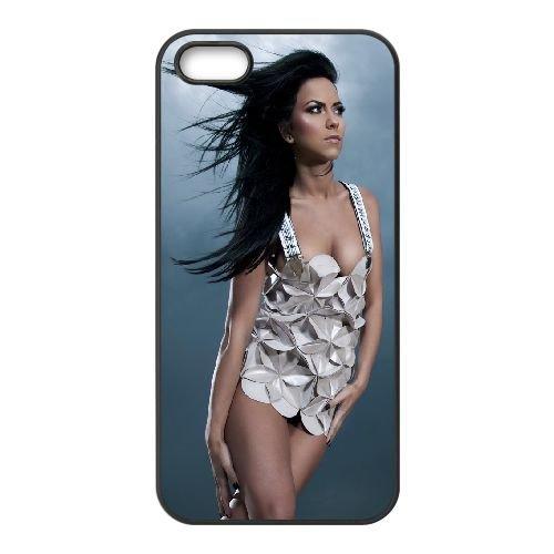 Inna21 coque iPhone 5 5S cellulaire cas coque de téléphone cas téléphone cellulaire noir couvercle EOKXLLNCD24560