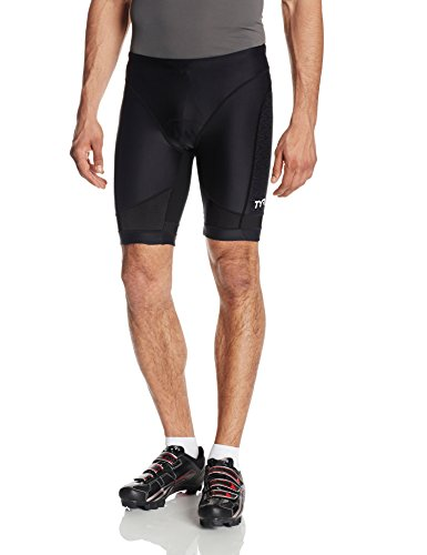 TYR Sport Men's Sport Competitor 9-Inch Tri Compression Shorts (Black, - Shorts Triathlon Tyr