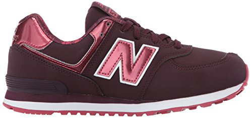 Mixte Burgundy Rouge 574 New Baskets bébé Balance q0yPT