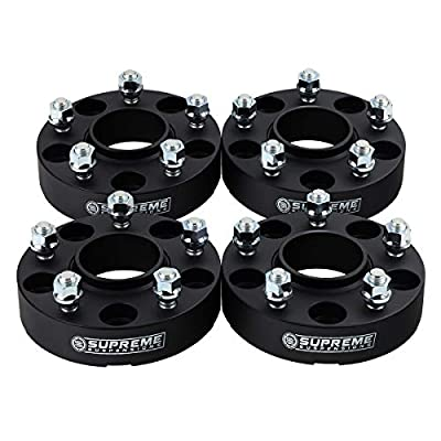 "Supreme Suspensions - Hub Centric Wheel Spacers Fits 2013-2018 Dodge Ram 1500 5x5.5"" (5x139.7mm) with Lip + M14x1.5 Studs"