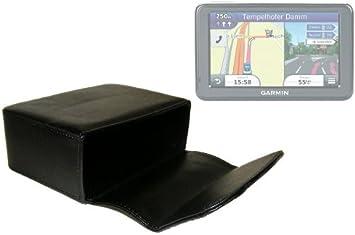 DURAGADGET Funda/Estuche Rígido De Piel para Navegador GPS Garmin Modelo Nüvi 2445 LMT con Sistema De Cierre Magnético Y De Dimensiones 125 x 90 x 45 mm: Amazon.es: Electrónica