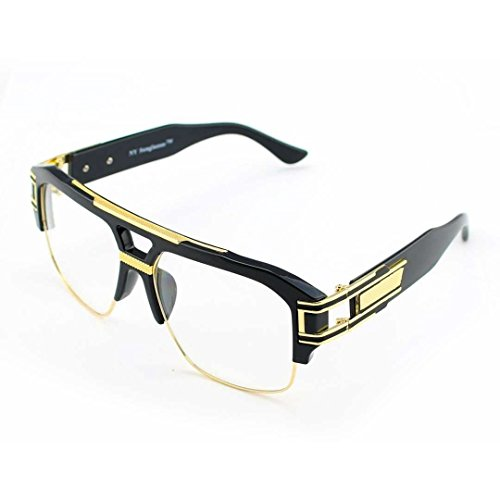 Authentic Gold Luxury Aviator Clear Lens - Italian Luxury Eyewear