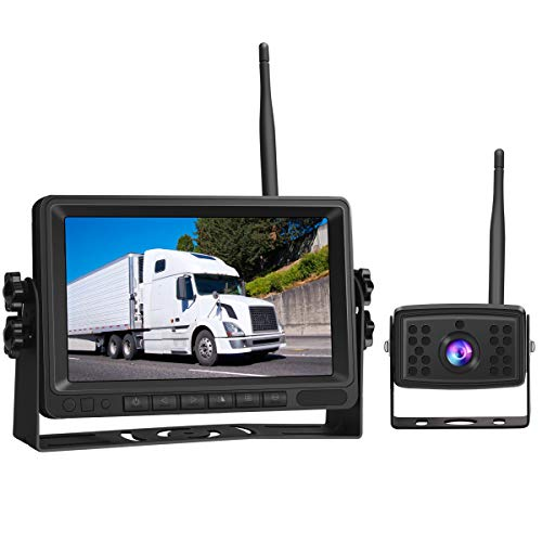 Piroir 1080P FHD Digital Wireless.Backup Camera System Kit.Monitor with Stable Digital Signal Transmission from Rear View Camera.Monitor & Rear View Camera for Truck, Van, Camping Car, SUV (Kit Camera Wireless)