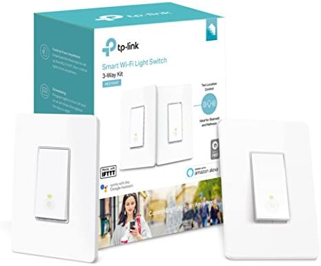 Kasa Smart Wi-Fi Light Switch, 3-Way Kit by TP-Link - Control Lighting from Anywhere, Easy In-Wall Installation (3-Way Only), No Hub Required, Works ...