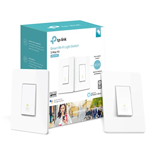 Kasa Smart Wi-Fi Light Switch, 3-Way Kit by TP-Link – Control Lighting from Anywhere, Easy In-Wall Installation (3-Way Only), No Hub Required, Works with Alexa and Google Assistant (HS210 KIT)