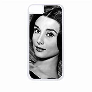 Audrey Hepburn Close-Up- Hard White Plastic Snap - On Case-Apple Iphone 6 Only - Great Quality!